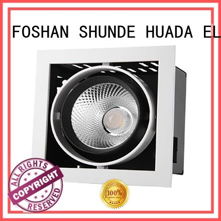 series grille spotlight HUADA ELECTRICAL Brand 6 spotlight ceiling bar factory