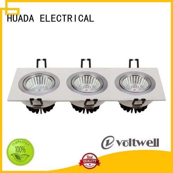 6 spotlight ceiling bar heads product square led spotlights adjustable HUADA ELECTRICAL Brand