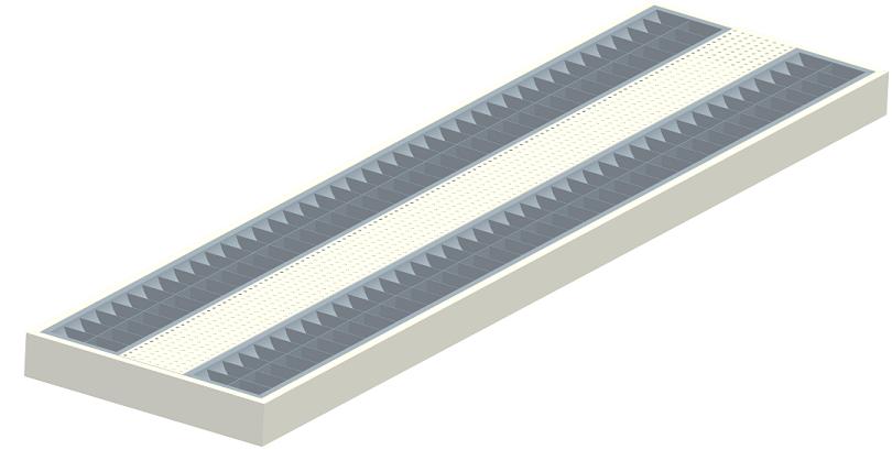 LED sterilization anti-glare lamp
