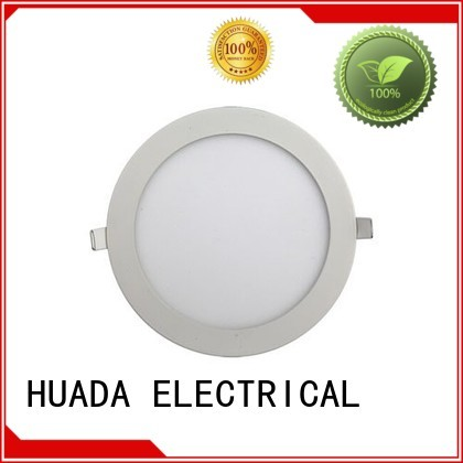ultra round HUADA ELECTRICAL Brand recessed led panel light factory