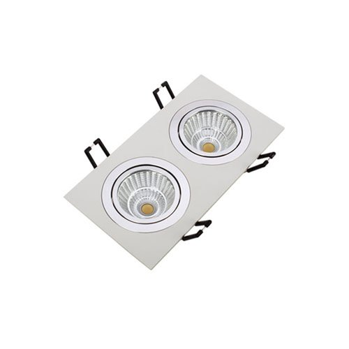Square COB 2*7W Dimmable LED Spotlight