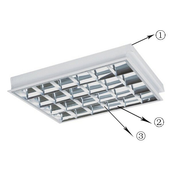 led area lighting fixtures grid lamp surface mounted light fixture manufacture
