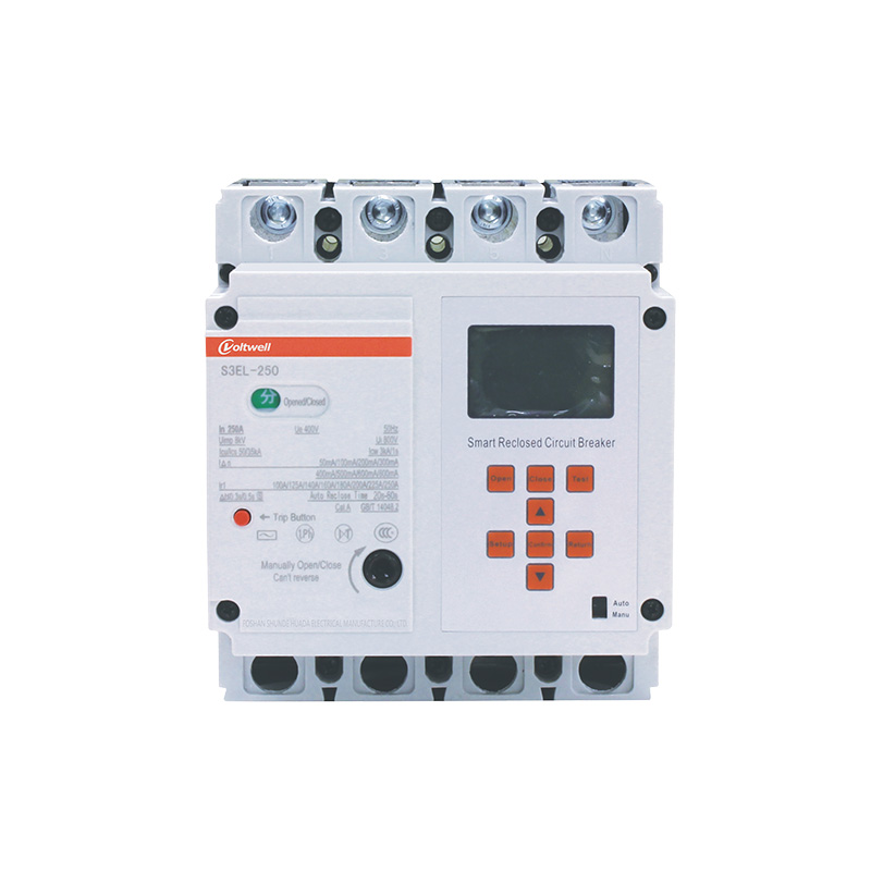 HBK-E10-EL250T smart plastic case circuit breaker  380V with leakage protection