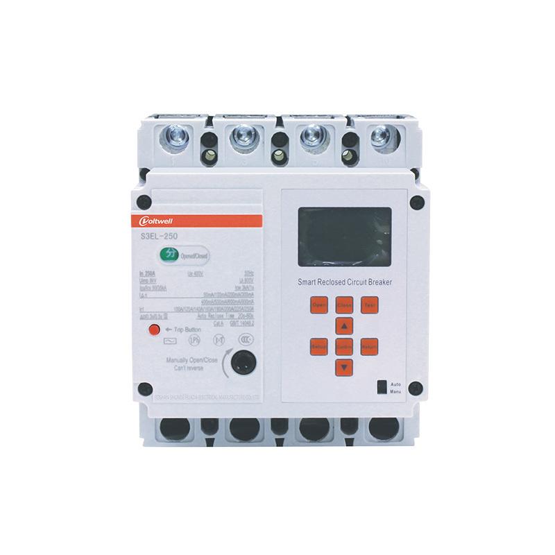HBK-E10-EL250T smart plastic case circuit breaker  380V with leakage protection